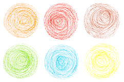 Crayon circles Royalty Free Stock Image