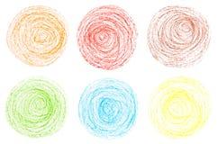 Crayon circles Royalty Free Stock Image
