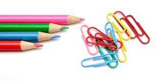 Crayon and clip Stock Photography