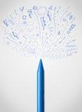 Crayon close-up with sketchy arrows. Coloured crayon close-up with sketchy arrows Stock Images