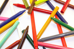 Crayon collage Stock Photography