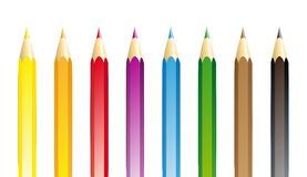Crayon-collection. Collection of coloured pencils in different colours Stock Images