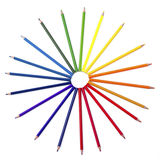Crayon coloré d'isolement Photo stock