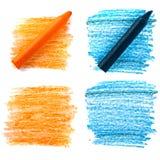 Crayon coloré de vax Image libre de droits