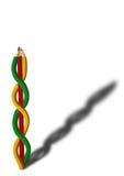 Crayon coloré par chaîne Photographie stock