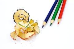 crayon color avec les copeaux colors de crayon images libres de droits - Copeaux De Bois Colors