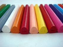 Crayon color back side view. Multiple crayon color back side view Stock Image