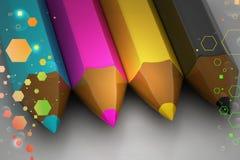 Crayon color pencil Stock Photo