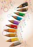Crayon colored background Royalty Free Stock Image