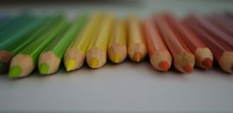 Crayon. Colored crayons on the paper Royalty Free Stock Photo