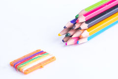 Crayon colors Stock Image