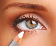 Crayon cosmétique blanc. Photos stock