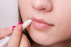 Crayon cosmétique de maquillage de lèvre d'eye-liner à Photos stock