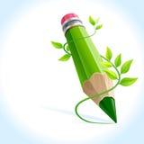 Crayon créateur et plante grimpante verte illustration libre de droits