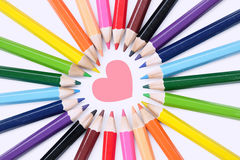 Crayon d'amour Photographie stock