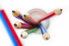 Crayon dans le verre Photo libre de droits