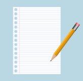 crayon de bloc - notes Photo libre de droits