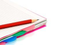 crayon de cahier Images libres de droits