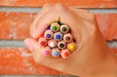 Crayon de couleur Photographie stock