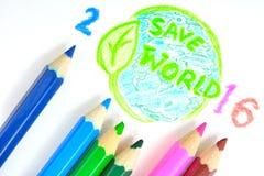 Crayon de couleur Photos libres de droits