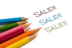 Crayon de couleur avec l'affaire de vente spéciale Photographie stock libre de droits