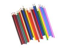Crayon de couleur d'isolement, vue supérieure photo stock