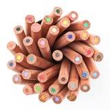 Crayon de couleur dans la cuvette Photographie stock libre de droits