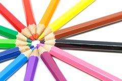 Crayon de couleur en cercle Images libres de droits