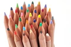 Crayon de couleur sur le fond blanc Photos stock
