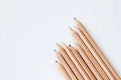 Crayon de couleur sur le fond blanc Image stock