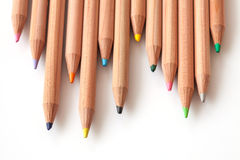 Crayon de couleur sur le fond blanc image libre de droits