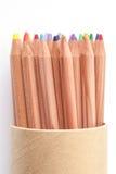 Crayon de couleur sur le fond blanc images stock