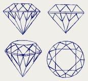 Crayon de croquis. Diamant Image stock