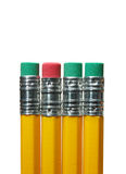 crayon de gommes à effacer image stock