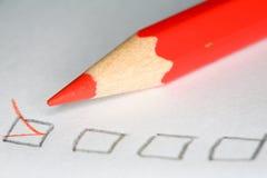 Crayon de plan rapproché Images stock