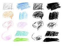 Crayon Doodles Stock Photos