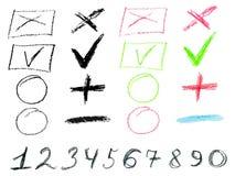 Crayon Doodles Stock Photo