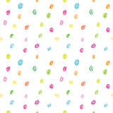 Crayon dots background vector. Seamless pattern. Hand drawn dots. Stock Images