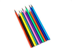 Crayon draw different colours postcard  design Stock Images