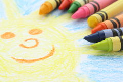 Crayon Drawing Stock Photography