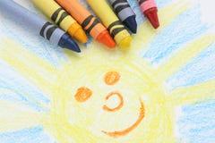 Crayon Drawing royalty free stock image