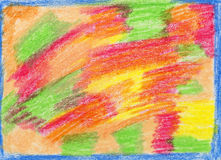 Crayon drawing, hand-drawn Royalty Free Stock Images