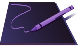 Crayon Drawing A Line - Vector Illustration Stock Photos