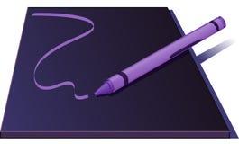 Crayon Drawing A Line - Vector Illustration Stock Photos