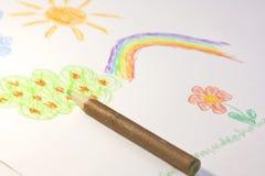 Crayon en bois Photos libres de droits
