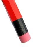 Crayon en bois avec la gomme à effacer en caoutchouc Photographie stock libre de droits