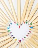 Crayon en bois coloré de couleur Image libre de droits