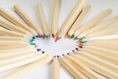 Crayon en bois coloré de couleur Photographie stock