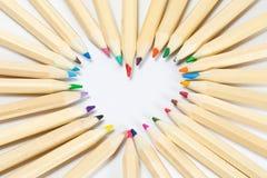 Crayon en bois coloré de couleur Image stock