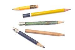 Crayon en bois utilisé Photo stock